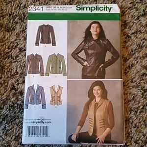 Simplicity Jacket and Vest Sewing Pattern